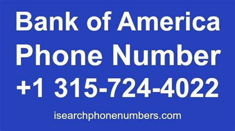 bank of america address bank of america phone number customer service credit