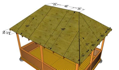 hip roof house plans to build woodworking projects plans how to build a gazebo roof myoutdoorplans free
