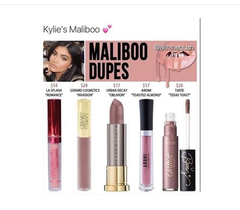 Lip Kit Maliboo lip kit dupes for maliboo makeup lip
