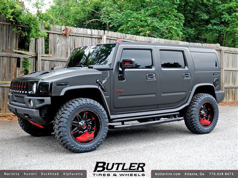 jeep hummer matte black matte black hummer h2 with 22in fuel hostage offroad wheel