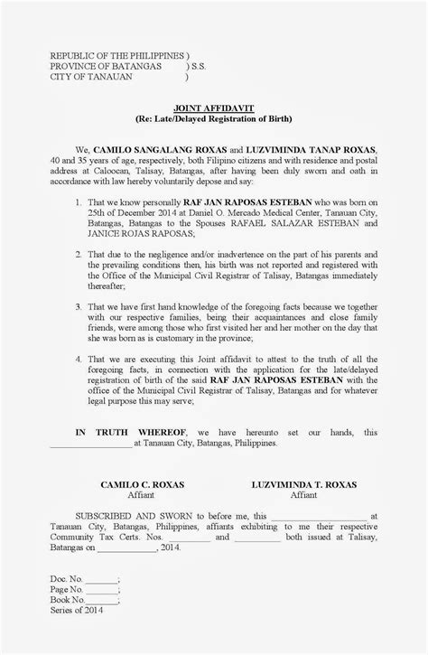 Common Proof Letter 7 Common Affidavit Form Canada Application Letter For Address Proof Proofread And