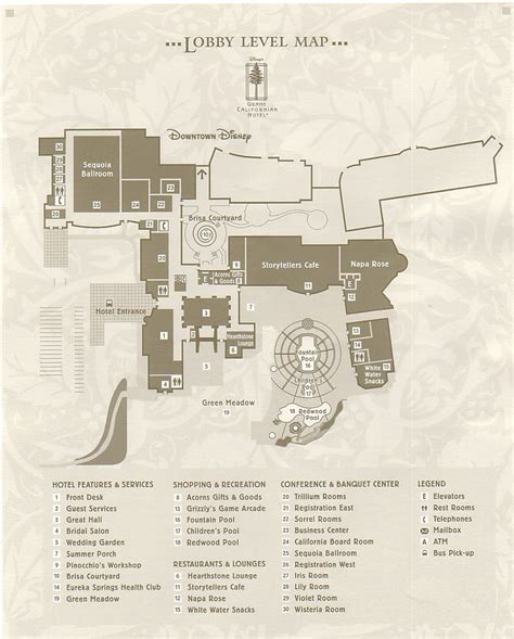 layout of grand californian hotel location of grand californian park view rooms the dis
