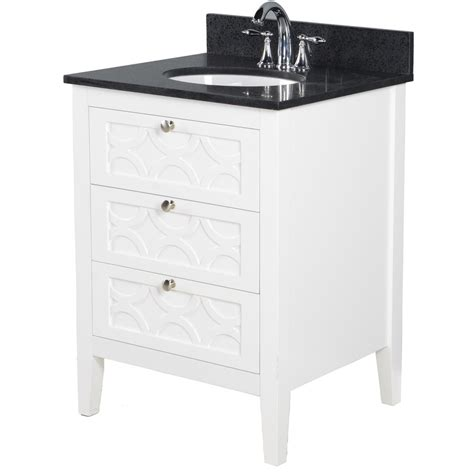 Lowes White Bathroom Vanity by Bestview Rotterdam 24 In White Vanity With Sky