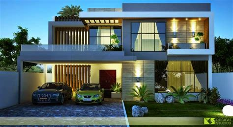 3d front elevation com new 1 kanal contemporary house one kanal house 3d front design blog