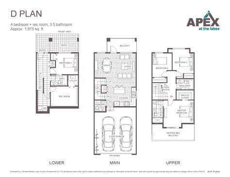 Home Floor Plans Exles by Apex Floor Plans Apex At The Lakes Lake Country Townhomes