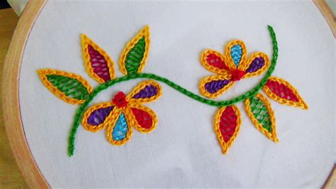 pics of designs hand embroidery wine stitch youtube