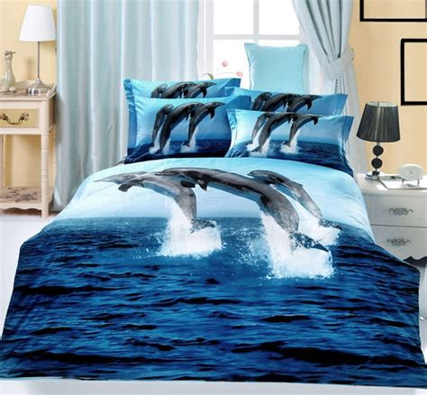 dolphin bedding aliexpress com buy 3d blue ocean comforter duvet covers
