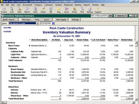sle of accounting report inventory valuation summary accounting software secrets