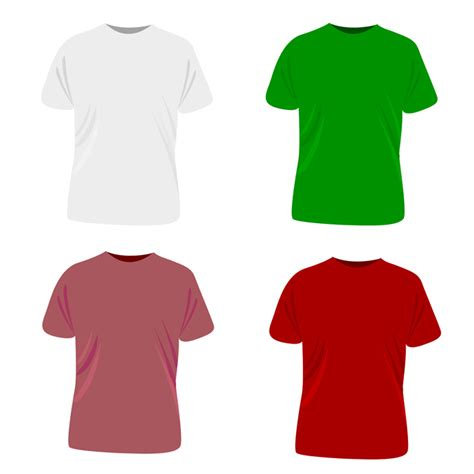 t shirt template free vector 123freevectors