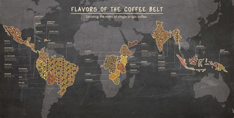 The Flavours Of flavors of the coffee belt visual ly
