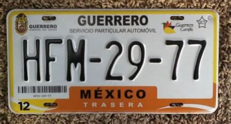 adeudos de placas nuevas placas guerrero requisitos cambio de placas