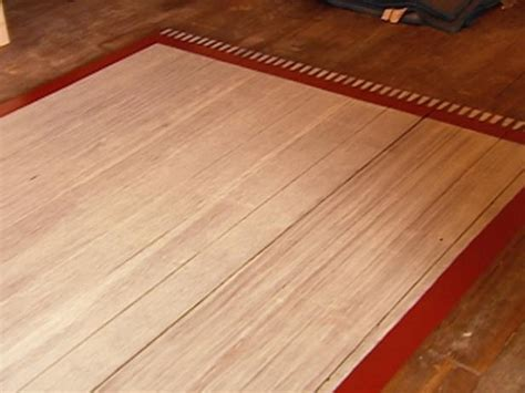 wood floor rug how to create a faux rug with paint hgtv