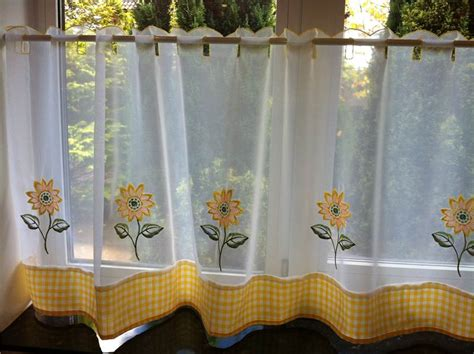 Cafe Curtains For Kitchen Lemon Sunflower Kitchen Curtains Pelmet Cafe Panels Seat Pads Ebay