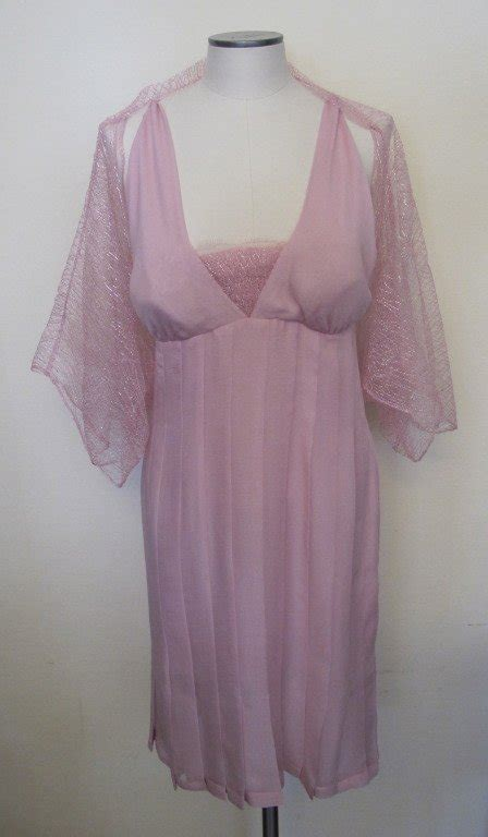 Bra St Yves Lace Pink chic chanel halter cocktail dress and jacket for sale at