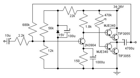 transistor 2n3055 en paralelo schematic wiring diagram 14w class a lifier circuit with 2n3055