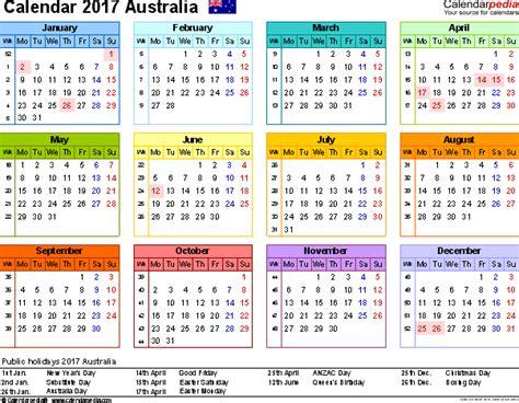 2017 yearly calendar printable australia australia calendar 2017 free printable pdf templates