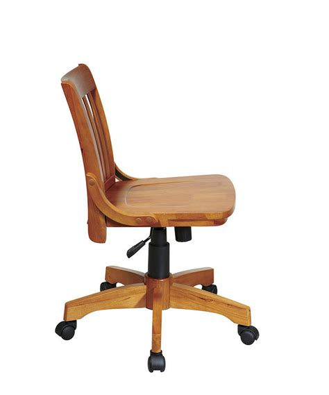 Wood Bankers Chair by Office Products Home Office Deluxe Armless Wood