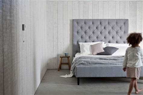 high headboard upholstered bed by your home