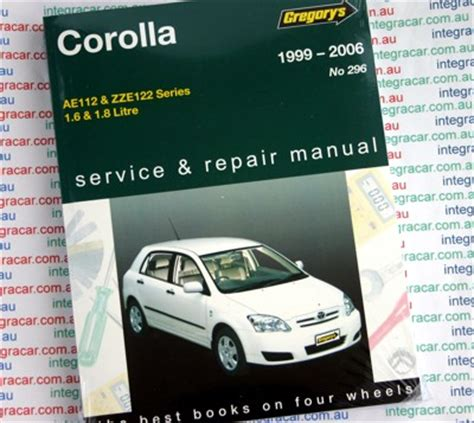 service manual 1997 toyota corolla workshop manual toyota corolla 1999 2006 gregorys service repair manual workshop car manuals repair books