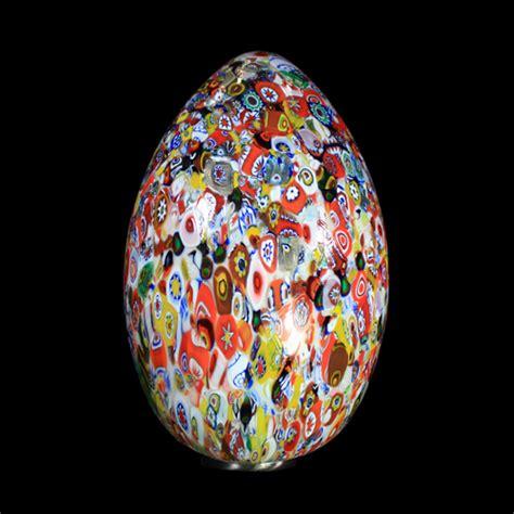 lade da tavolo la murrina lada a uovo in vetro veneziano decorata con murrine