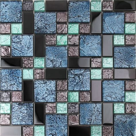 bathroom glass tile designs 20 best metal glass tiles images on pinterest mosaic