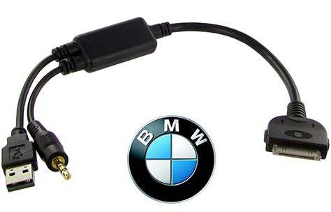 bmw ipod and iphone cable for idrive via usb and 3 5mm