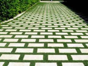 grass driveways with permeable pavers driveways