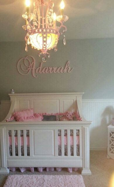 Handmade Nursery Decor Ideas - custom glittered nursery letters baby nursery decor