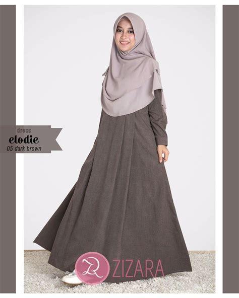 Samila Dress A 05 Zizara gamis zizara elodie dress 05 brown baju muslim