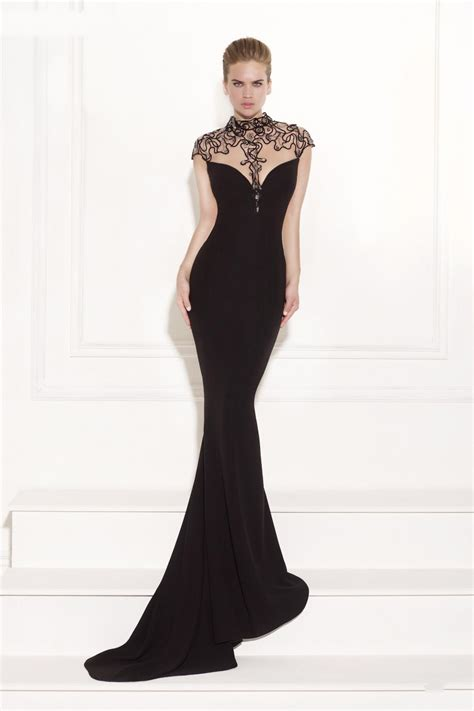 The Evening Black Dress 1 aliexpress buy cap sleeve black evening dresses sheer illusion back with