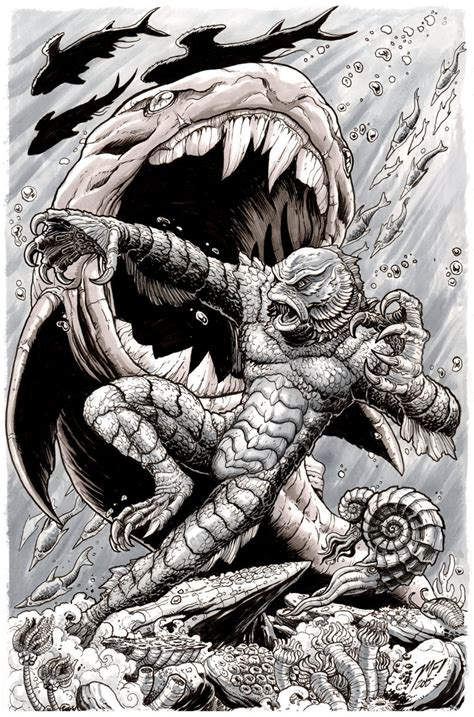 creature from the black lagoon monsterama print by