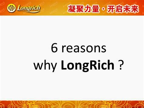 Why I Do This 6 Reasons by Longrich Nigeria Product Catalogue And Testimonies Six