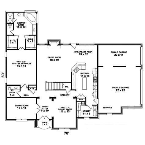 floor plans home seldovia southern colonial home plan 087d 1611 house