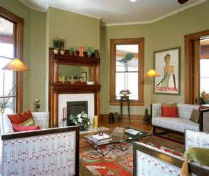 green with wood trim interior of victorian homes with