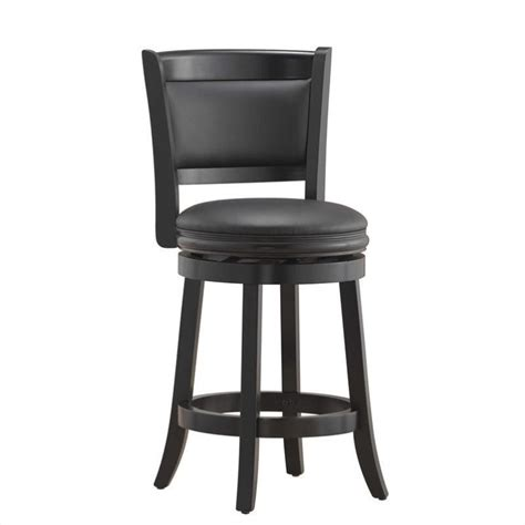 Black Bar Stools Counter Height | boraam augusta 24 quot counter height swivel black bar stool