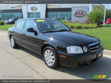 2006 Black Kia Optima Black 2006 Kia Optima Lx Gray Interior Gtcarlot