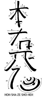 hon sha ze sho nen  reiki distance healing symbol