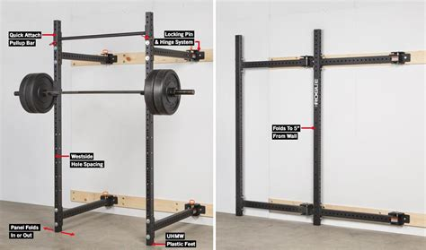Rogue R3 Rack by Rogue R 3w Fold Back Wall Mount Rack Rogue Fitness