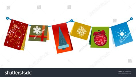 String Greeting Cards - string cards one card says seasons stock vector