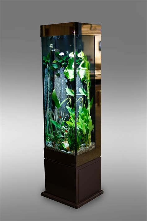 aquarium design en colonne meuble tv aquarium
