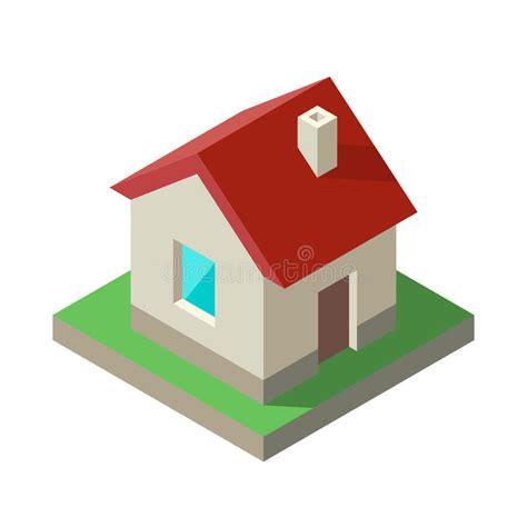 tutorial house logo isometric house icon logo vector illustration stock