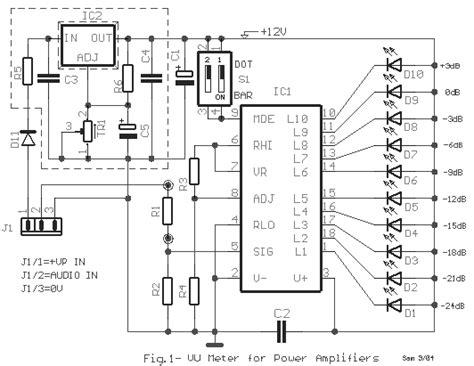 power measurement integrated circuit power lifier measured by vu meter eeweb community
