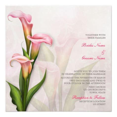 Calla Wedding Invitation by Calla Pink Wedding Invitation Zazzle