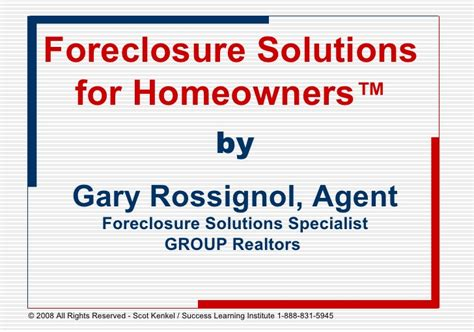 Foreclosure Specialist by Foreclosure Presentation