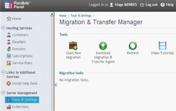 ci migration tutorial procedura migrazione dati per parallels plesk