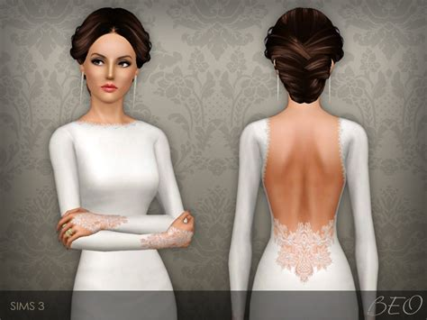 sims 3 wedding hair beo s wedding dress 35
