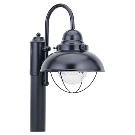 Light Posts Outdoor Sea Gull Lighting 8269 12 Black Sebring 1 Light Outdoor Post Light Lightingdirect