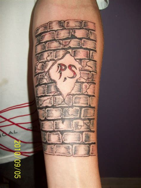 brick box image brick wall tattoo designs