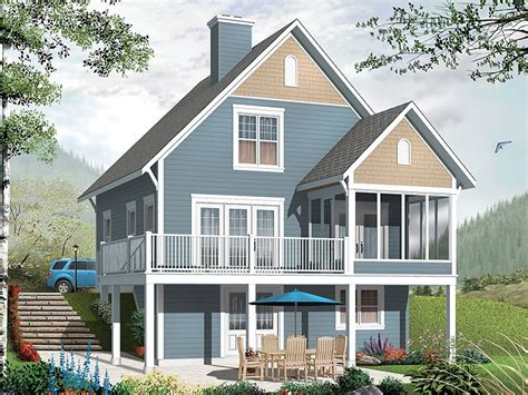 Vacation Home Plans Waterfront by Vacation House Plans Two Story Vacation Home Plan 027h