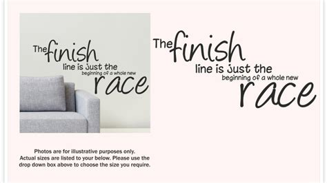 the finish line was just the start a marathon runner s memoir of relentlessness resilience renewal books the finish line is just the beginning wall sticker quote